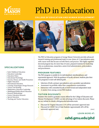 Doctoral Degree in Education - PhD Program Flyer